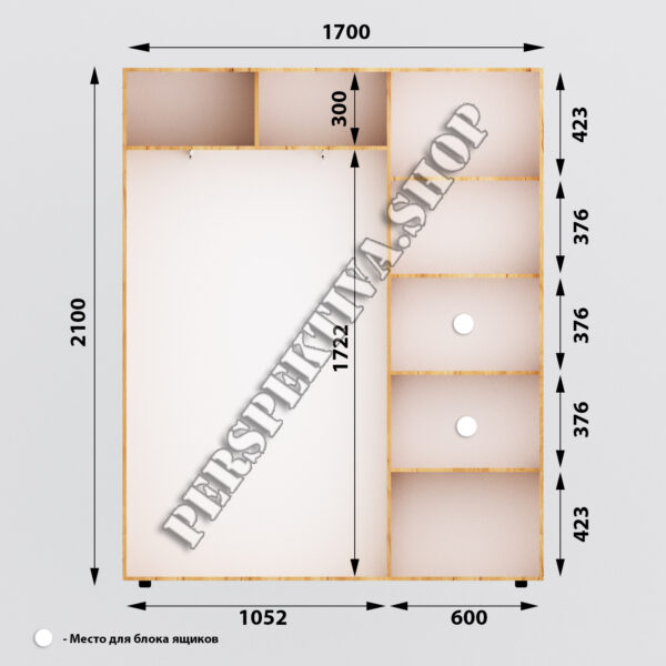 Шкаф-купе 1700 х 450 2Д