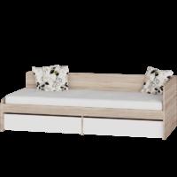 Кровать Соната 800 с ящиками - венге магия/белый